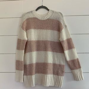 AE oversized striped sweater